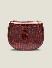 Pépita Patent Leather Bag, Small Model : Bags color Orange leopard