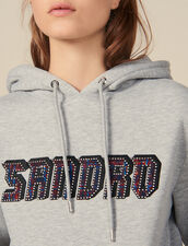 Sweatshirt with Sandro lettering : Sweaters & Cardigans color Grey