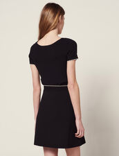 Knitted Skirt With Jewelled Buttons : Skirts color Black