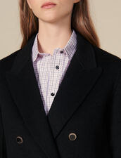 Double-Breasted Wool Blazer : Coats color Black