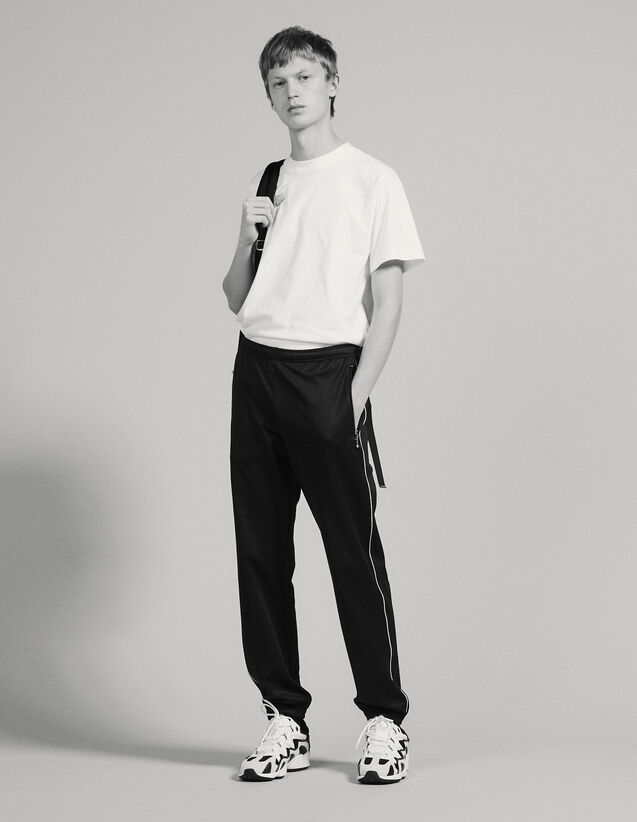 Track Pant Style Jogging Bottoms : Pants & Shorts color Black