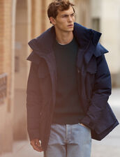Mid-length down parka : Coats color Black