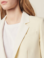 Suit Jacket With Contrasting Collar : Coats & Jackets color Ecru