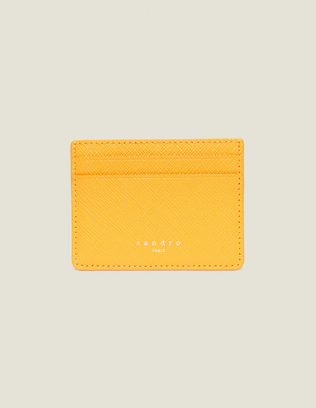 Leather Card Holder : Leather Goods color Orange