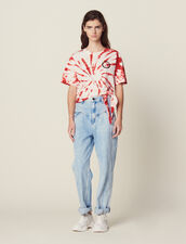 Tie-Dye T-Shirt : Tops & Shirts color Red