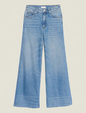 Wide Leg Jeans : Pants & Shorts color Blue Vintage - Denim