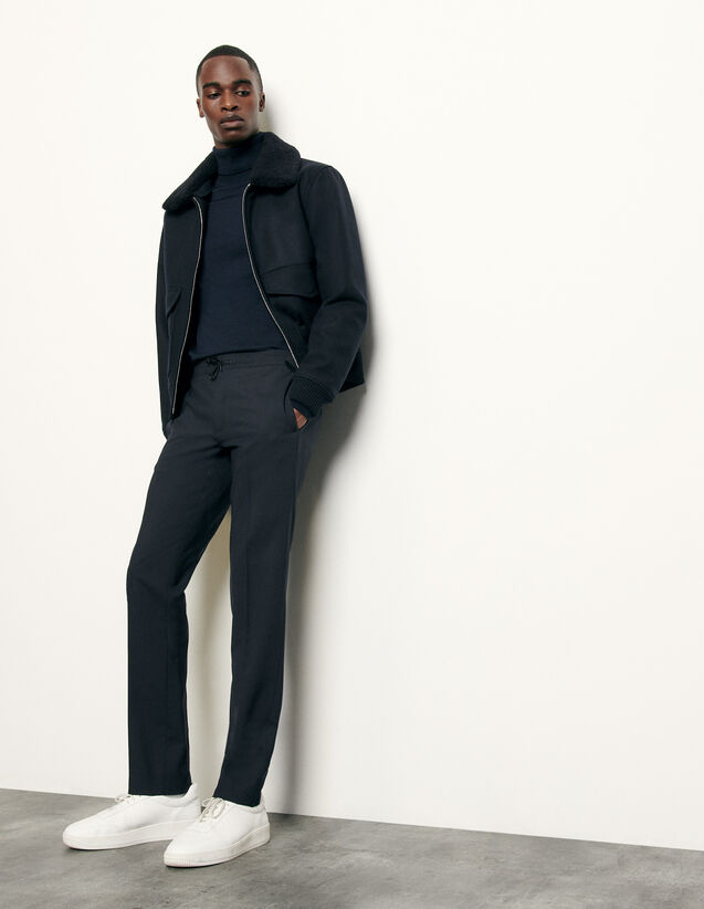 Trousers with elasticated waist : Spring Pre-Collection color Black