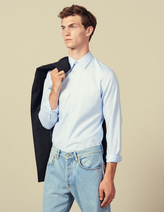 Formal Oxford shirt : Shirts color Sky Blue
