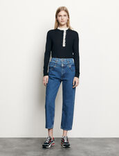 Layered mom jeans : Spring Pre-Collection color Blue