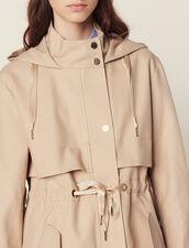 Cotton Parka : Coats & Jackets color Beige