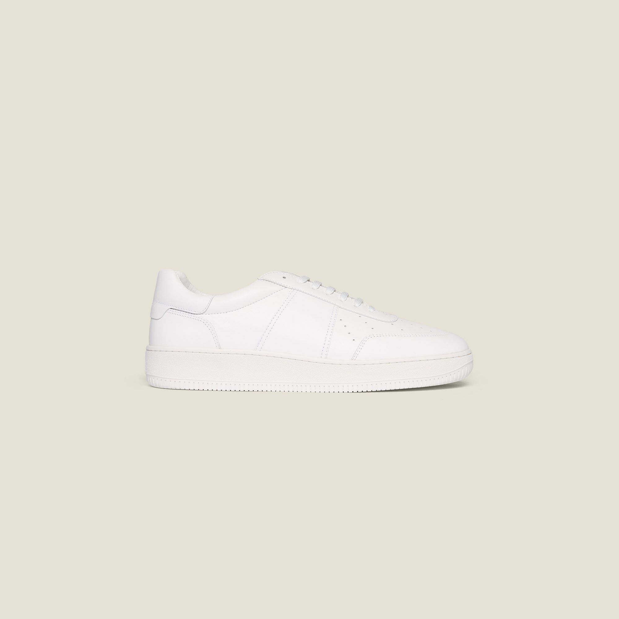 Plain leather sneakers - Shoes   Sandro