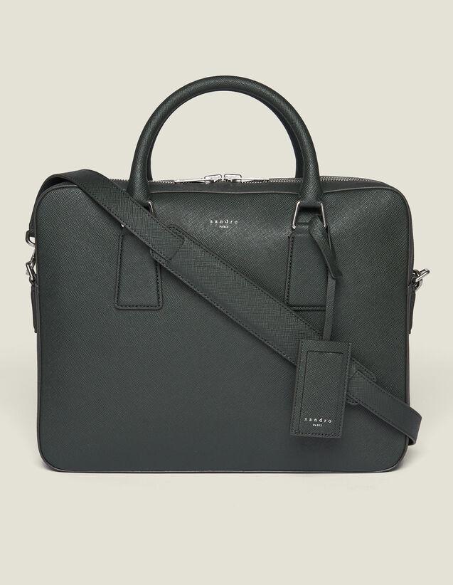 Saffiano Leather Briefcase : Bags color Black