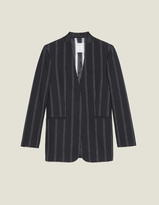 Matching Striped Blazer : Coats & Jackets color Black