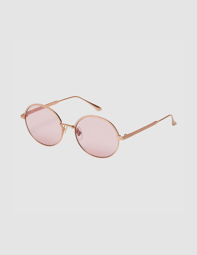 Round Sunglasses : Sunglasses color Doré/Noir