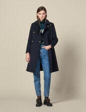 Military wool blend coat : Coats color Navy Blue