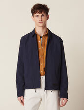 Coach Jacket In Technical Fabric : Coats & Jackets color Navy Blue