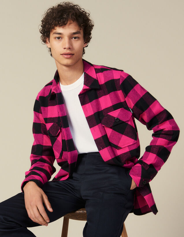 Checked Cotton Shirt : Shirts color Pink