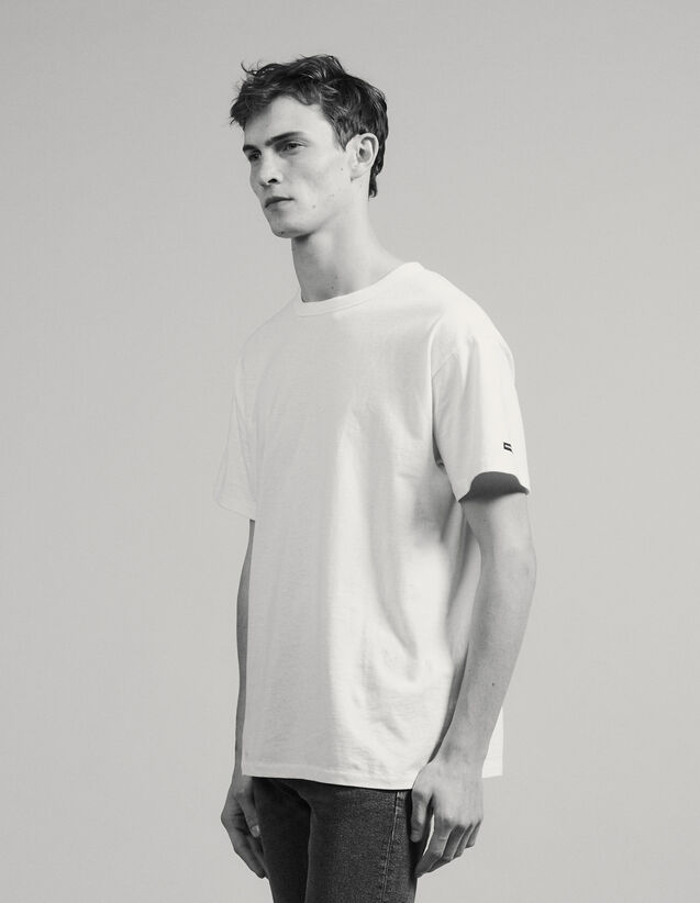 Cotton Oversized T-Shirt : T-shirts & Polos color white