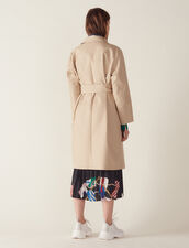 Trench Coat With Denim Jacket Insert : Coats & Jackets color Beige