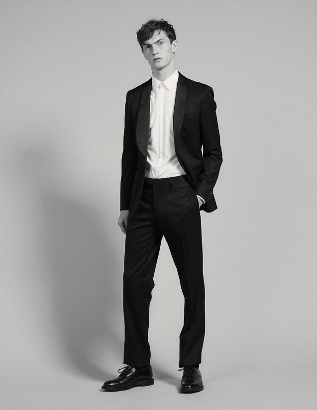 Tuxedo Pants : Suits & Blazers color Black