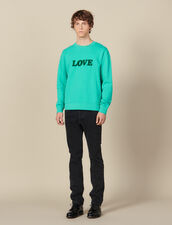 Sweatshirt With Lettering : Sweatshirts color Light Green