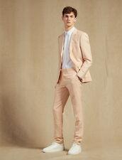 Linen Blend Suit Pants : Suits & Blazers color Light pink