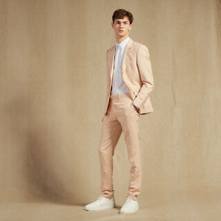 Linen, Light pink, hi-res, | sandro-paris.com