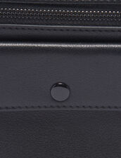 Small Smooth Leather Pouch : Bags color Black