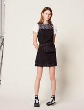 Sleeveless Guipure Dress : Dresses color Black