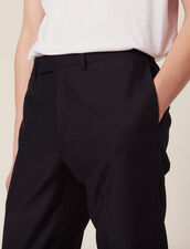 Basketweave Wool Suit Pants : Suits & Blazers color Navy Blue