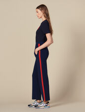 Knit jogging bottoms : Pants & Shorts color Navy Blue