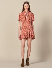 Short-sleeved printed dress : Dresses color Red