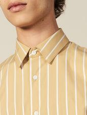 Striped Cotton Shirt : Shirts color Beige/White