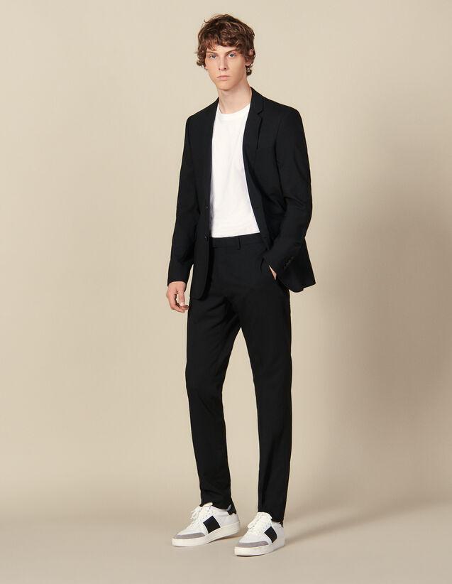 Classic wool suit trousers : Pants color Navy Blue