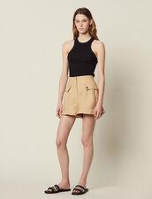Ruffled Shorts : Pants & Shorts color Beige