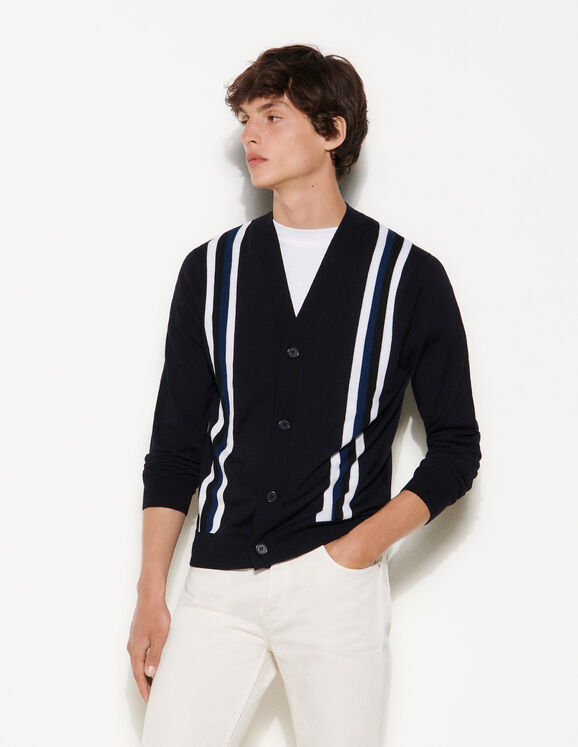Sandro Cardigan with contrasting stripes