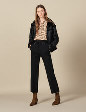 pants with studded belt : Pants & Shorts color Black