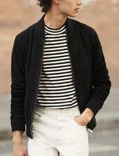 Suede zipped jacket : Jackets color Black