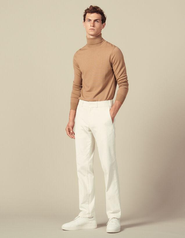Straight-Cut Corduroy Pants : Pants & Shorts color Ecru