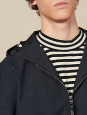 Hooded Jacket : Jackets color Charcoal Grey