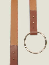 Belt With Ring Fastening : Belts color Camel