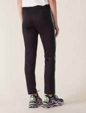 Jogging Bottom Style Pants : Pants & Shorts color Black