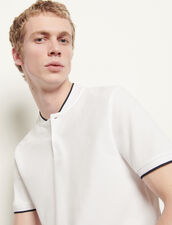 Polo shirt with contrasting collar : T-shirts & Polos color Black