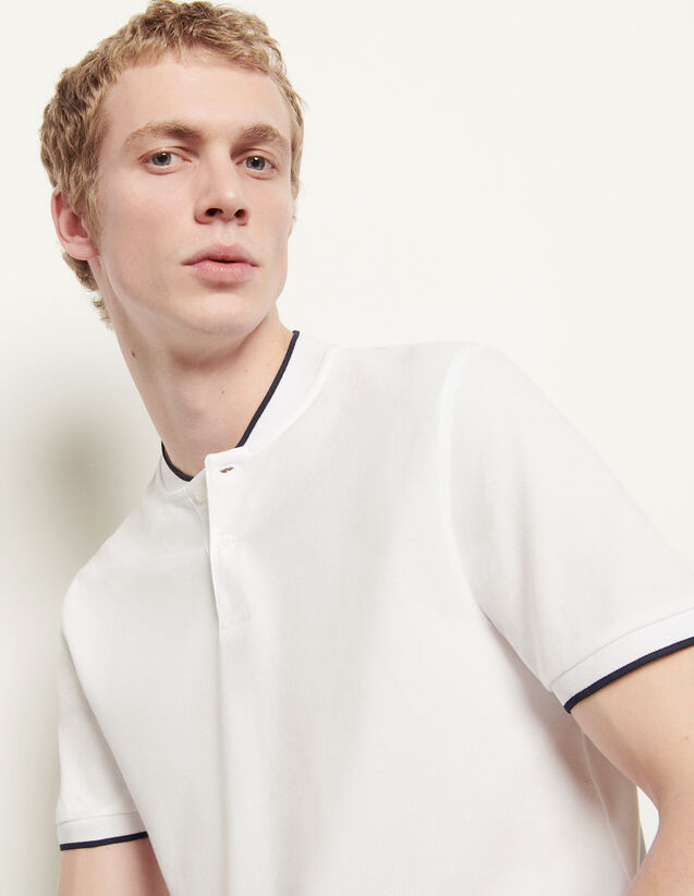 Polo shirt with contrasting collar : Spring Pre-Collection color Black
