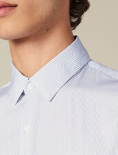 Shirt With Fine Stripes : Shirts color White/Blue