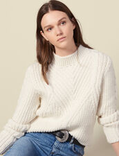 Chunky knit wool sweater : Sweaters & Cardigans color Ecru
