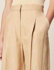 Wide Pants With Darts : Pants & Shorts color Beige