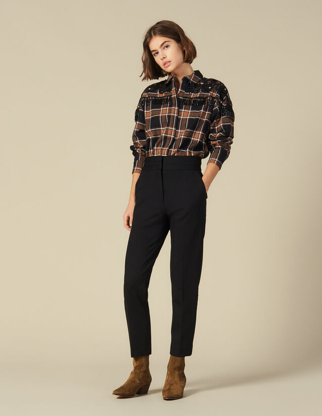 High-waisted classic pants : Pants & Shorts color Black