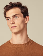 Cashmere sweater : Sweaters & Cardigans color Dark Camel