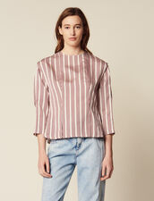 Long-Sleeved Striped Top : Tops & Shirts color Bordeaux